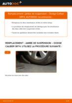 PDF manuel de remplacement: Amortisseur DODGE CALIBER arrière + avant
