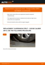 How to replace and adjust Deflection / Guide Pulley, timing belt DODGE CALIBER: pdf tutorial