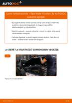 Lambdaszonda-csere Opel Astra H sedan gépkocsin – Útmutató