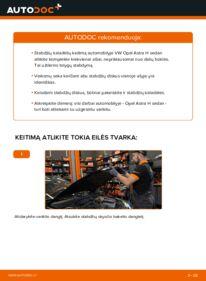 Kaip atlikti keitimą: 1.6 (L69) Opel Astra H Sedanas Stabdžių diskas