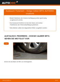 Wie der Wechsel durchführt wird: Stoßdämpfer 2.0 CRD Dodge Caliber SRT4 tauschen