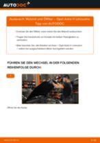 Installation von Motorölfilter OPEL ASTRA H Saloon (L69) - Schritt für Schritt Handbuch