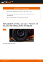 rear and front Anti roll bar links PEUGEOT 406 (8B) | PDF replacement manual
