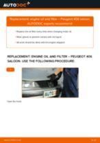 PDF replacement tutorial: Oil filter PEUGEOT 406 (8B)