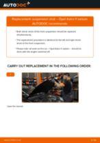 OPEL ASTRA H Saloon (L69) change Shock Absorber rear: guide pdf