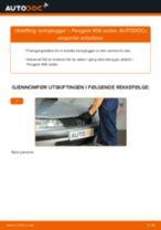 Skifte Dynamo PEUGEOT 406: verkstedhåndbok