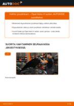 Kuinka vaihtaa joustintuki eteen Opel Astra H sedan-autoon – vaihto-ohje