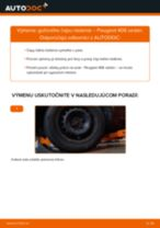 Výmena Hlava / čap spojovacej tyče riadenia PEUGEOT 406: dielenská príručka