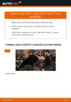 Ako vymeniť motorové oleje a filtre na Opel Astra H sedan – návod na výmenu