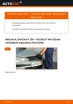 Zracni filter PEUGEOT 406 (8B) | PDF vodič za zamenjavo
