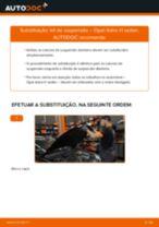 Substituição Amortecedor de suspensão OPEL ASTRA: pdf gratuito