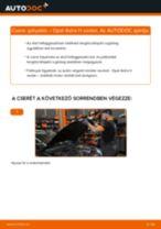 Hogyan cseréje és állítsuk be Gólyaláb OPEL ASTRA: pdf útmutató