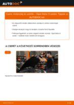 Motorolaj és szűrők-csere Opel Astra H sedan gépkocsin – Útmutató
