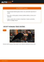 Kā nomainīt un noregulēt Riteņa rumbas gultnis OPEL ASTRA: pdf ceļvedis