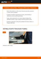 PEUGEOT 406 Amortizatoriaus Apsauga keitimas: nemokamas pdf