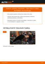 Kaip pakeisti ir sureguliuoti Amortizatorius OPEL ASTRA: pdf pamokomis