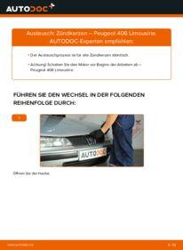 Wie der Wechsel durchführt wird: Zündkerzen 2.0 HDI 110 Peugeot 406 Limousine tauschen