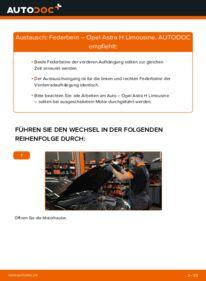 Wie der Wechsel durchführt wird: Stoßdämpfer 1.6 (L69) Opel Astra H Limousine tauschen