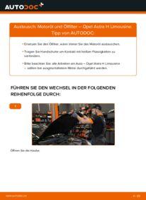 Wie der Wechsel durchführt wird: Ölfilter 1.6 (L69) Opel Astra H Limousine tauschen