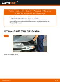 Kaip atlikti keitimą: 2.0 HDI 110 Peugeot 406 Sedanas Uždegimo žvakė
