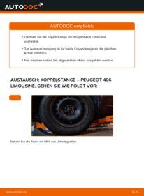 Wie der Wechsel durchführt wird: Koppelstange 2.0 HDI 110 Peugeot 406 Limousine tauschen
