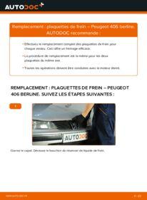 Comment effectuer un remplacement de Plaquettes de Frein sur 2.0 HDI 110 Peugeot 406 Berline