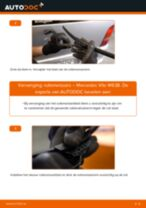 PDF handleiding voor vervanging: Ruitenwisserbladen MERCEDES-BENZ VITO Bus (638) achter en vóór