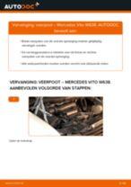 Hoe veerpoot vooraan vervangen bij een Mercedes Vito W638 – Leidraad voor bij het vervangen