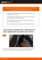 Tips van monteurs voor het wisselen van MERCEDES-BENZ Mercedes Vito W639 113 CDI 2.2 Interieurfilter