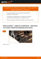 Comment changer : jambe de suspension avant sur Mercedes Vito W638 - Guide de remplacement