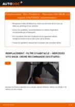 Comment changer : filtre d'habitacle sur Mercedes Vito W638 - Guide de remplacement