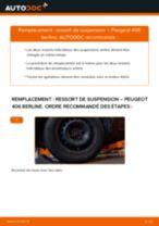 Comment changer : ressort de suspension arrière sur Peugeot 406 berline - Guide de remplacement