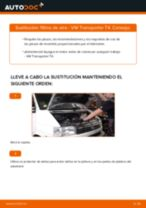 Reemplazar Elemento filtro de aire VW TRANSPORTER: pdf gratis