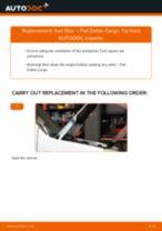 DIY FIAT change Fuel Filter diesel and gasoline - online manual pdf