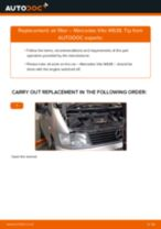 Step by step PDF-tutorial on Air Filter MERCEDES-BENZ VITO Bus (638) replacement