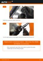 Changing Wiper Blades MERCEDES-BENZ VITO: workshop manual