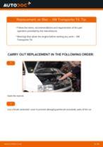 Changing Air Filter VW TRANSPORTER: workshop manual