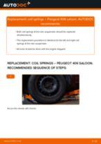 DIY PEUGEOT change Coil springs front left right - online manual pdf