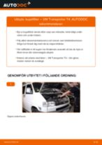 Byta kupéfilter på VW Transporter T4 – utbytesguide