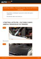 Montering Xenonlys FIAT DOBLO Cargo (223) - steg-for-steg manualer