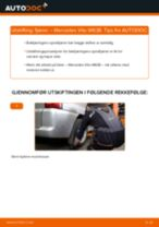 Skifte Fjærer MERCEDES-BENZ VITO: verkstedhåndbok