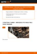 Montering Spiralfjær MERCEDES-BENZ VITO Bus (638) - steg-for-steg manualer