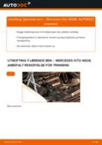 Skifte Startbatteri MERCEDES-BENZ VITO: verkstedhåndbok