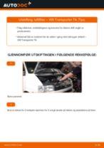 Slik bytter du luftfilter på en VW Transporter T4 – veiledning
