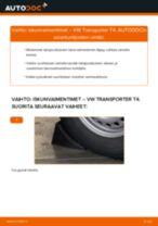 Kuinka vaihtaa iskunvaimentimet taakse VW Transporter T4-autoon – vaihto-ohje