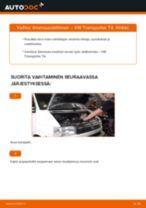 Kuinka vaihtaa ilmansuodattimen VW Transporter T4-autoon – vaihto-ohje