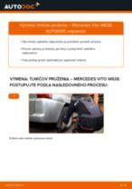 Podrobný PDF tutorial k výmene Mercedes W211 Lanko Ručnej Brzdy