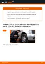 Montáž Drżiak ulożenia stabilizátora MERCEDES-BENZ VITO Bus (638) - krok za krokom príručky