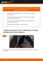 Odporúčania od automechanikov k výmene MERCEDES-BENZ Mercedes Vito W639 113 CDI 2.2 Kabínový filter
