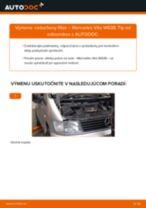 Podrobný PDF tutorial k výmene MERCEDES-BENZ VITO Bus (638) Vzduchový filter